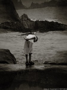 The young boy and the sea.