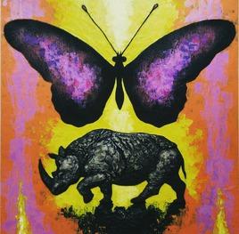 Papillon et Rhinocéros