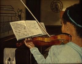 Julianne à son violon