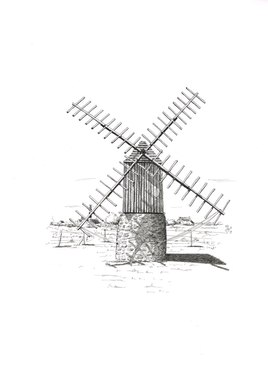OUESSANT - Le moulin de Karaës
