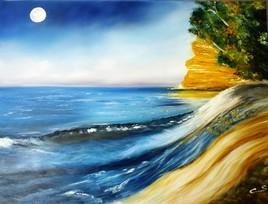 pleine lune en mer