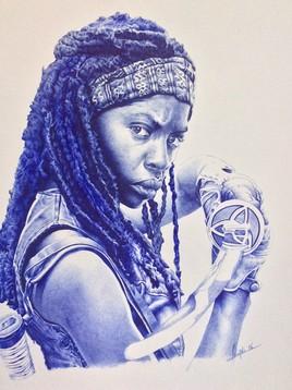 Portrait de MICHONNE de la série«The Walking Dead».