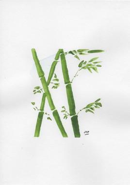Aquarelle - Bambous