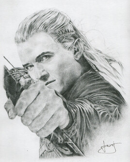 Dessin de portrait d'Orlando Bloom