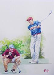 etude de golfeurs