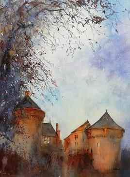 Château de Lassay le soir