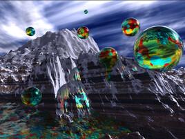 Montagne à bulles