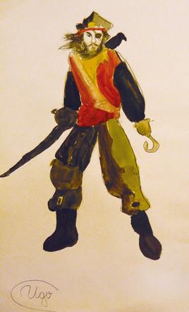 pirate peint à 9  ans