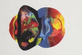 LangdonArt LuneJaune peinture acrylique sur papier vue D sur 4 vues