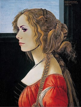 Catherine Deneuve revisite Simonetta de Sandro Botticelli :)