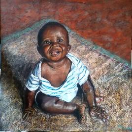 rayonnant bébé africain