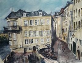 Metz La vieille ville. la lorraine.