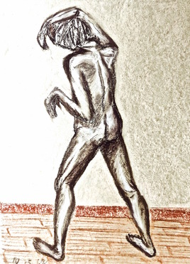 Homme debout de dos Jacques / Drawing A standing man from behind