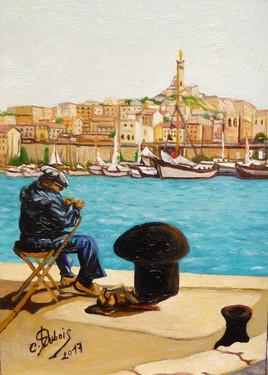 the old oil port of MARSEILLE - le vieux port de Marseille ( 2017 )