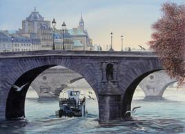 Le pont Marie et la péniche