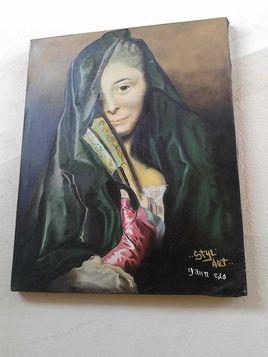 Premier portrait réalisé en peinture :)