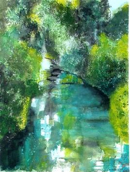 La Blaise : Démonstration au festival d'aquarelle de WASSY