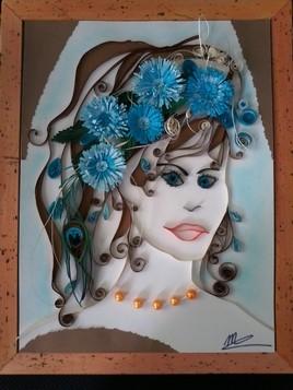 visage bleu beauté