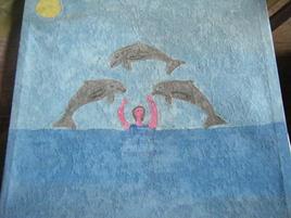 Danse avec les dauphins.