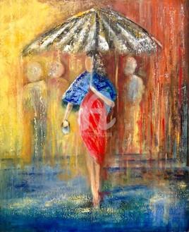 La jeune femme au parapluie