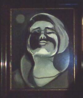 portrait femme sous la lune