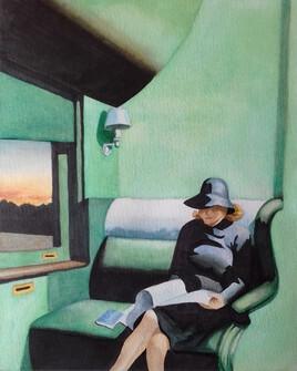 - Aquarelle d'après Hopper -