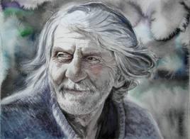 Homme à barbe grise