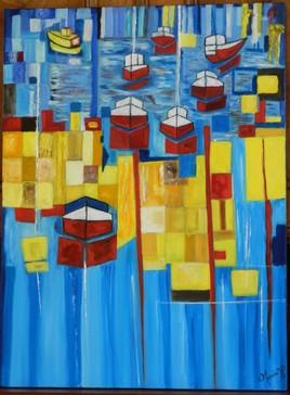 Peinture  abstraite 2018 de MERCIE  Jean Pierre