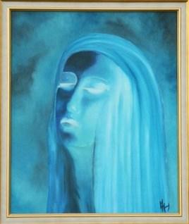 """La dame bleue """"pensée"""""""