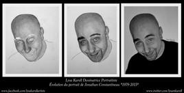 Évolution du portrait de Jonathan Constantineau
