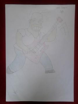Homer Simpson star du rock
