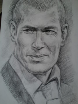 Portrait de Zidane