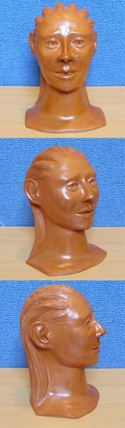 Sculpture en argile, vernis a la gomme-laque  ( sculpture numero 1 )