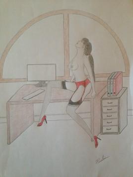 La secrétaire...