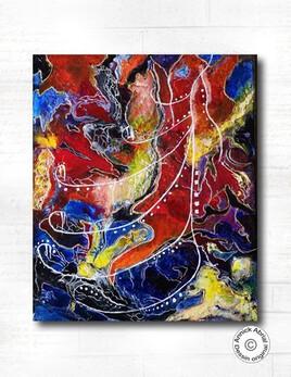 Tableau abstrait Flamboyance
