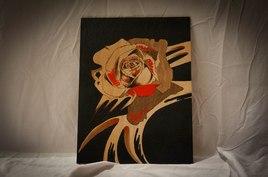 Rose sur bois