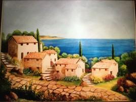 Village sur la route de Provence