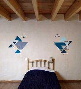 Peinture murale ''Triangles''