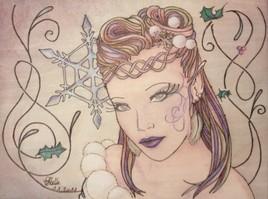 Elfe aux couleurs d'hiver