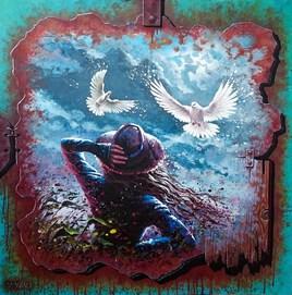 La fille aux colombes