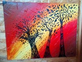 3 arbres dans la lumière
