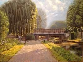 Le pont de la rosée claye souilly-canal de l ourcq-France