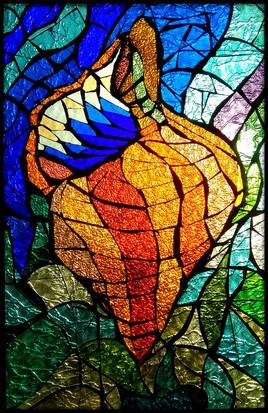 vitrail réalisé par Molac Yves 60 x 45
