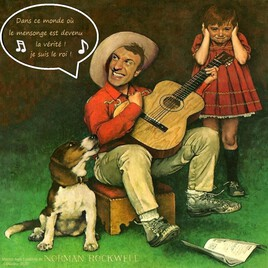 "Mr Blabla.. dans "" the music Man"" de Norman Rockwell :)"