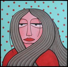 Portrait au pull rouge