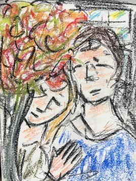 Les amoureux au bouquet de fleurs 2