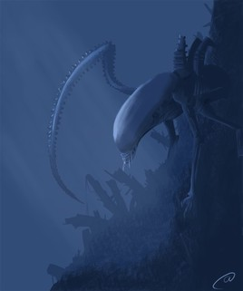Speed painting d'Alien...