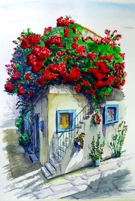 la maison aux géraniums