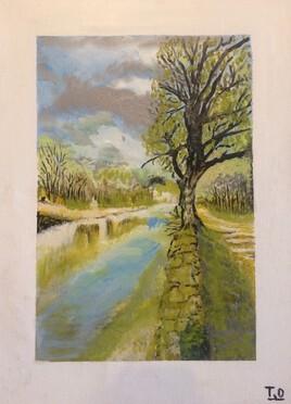 Une rive de l'étang de La Capelle Masmolène
