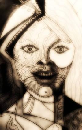 Dessin Portrait illuminé